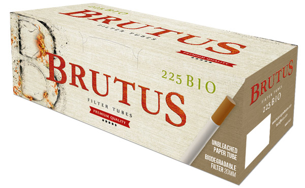 Biodegradable cigarette filter tubes Brutus with 20 mm filter
